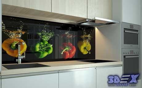 3d Panel, 3d Glass Panel, 3d Backsplash, 3d Kitchen Backsplash, 3d  Backsplash