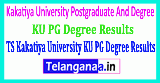Telangana TS Kakatiya University KU PG And Degree Results