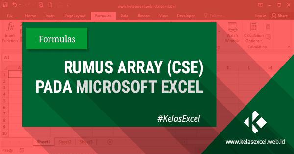 Rumus Array Pada Microsoft Excel