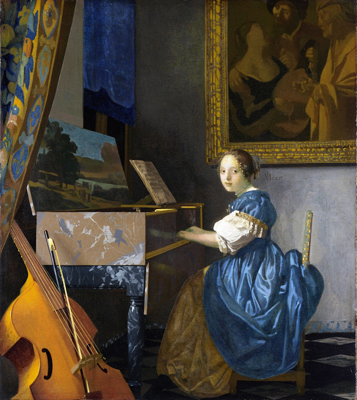 Johannes Vermeer - A Young Woman Seated at a Virginal 1670-72
