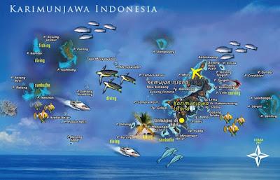 karimun jawa indonesia map peta