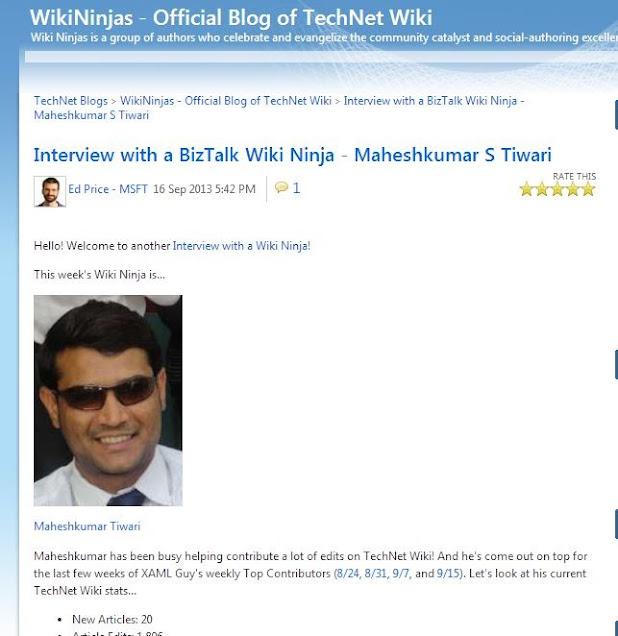 Maheshkumar Tiwari Technet Interview Page