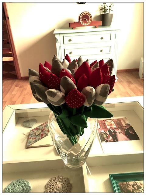 # 138 tulipany z materiału