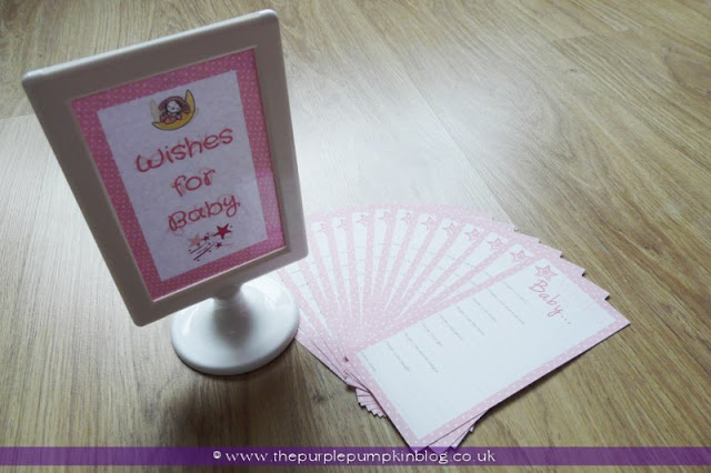 Wishes For Baby for a Baby Shower at The Purple Pumpkin Blog