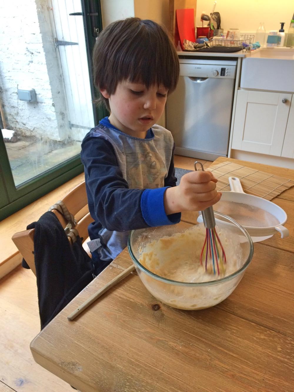 Ned making pancakes