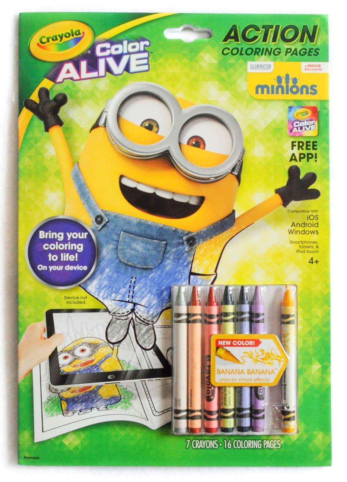 2016 color alive frozen - Crayola Color Alive Pages Minions