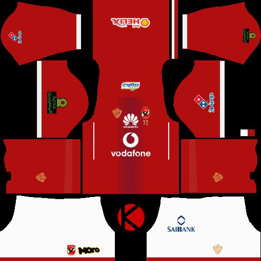 8725752e0bd Al Ahly SC (Egypt) Kits 2017/18 - Dream League Soccer - Kuchalana