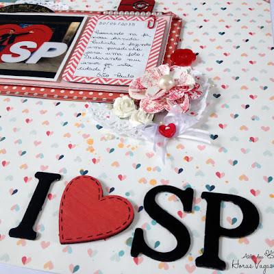 scrap scrapbook scrapbooking LO I love SP pinkpaislee solstice são paulo