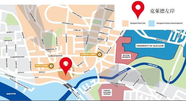 格拉斯哥學生宿舍地圖