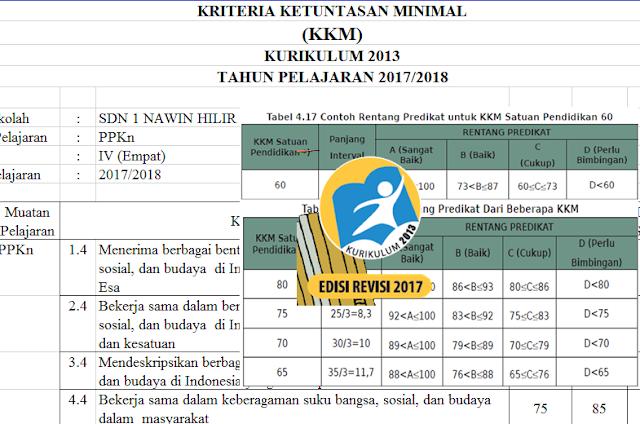 Aplikasi KKM Kurikulum 2013 Format Excel Terbaru
