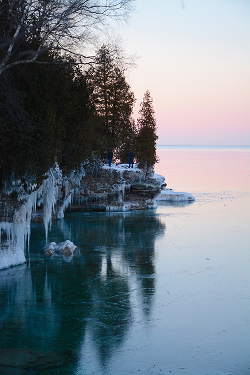 Cave Point, Door County - Winter | My Darling Days