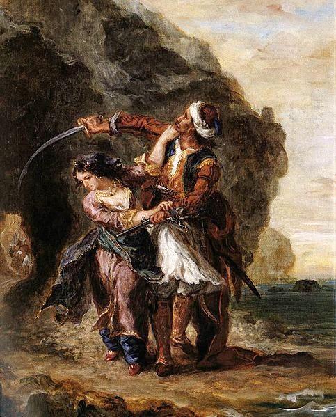 A Noiva de Abidos - Delacroix, Eugène e suas principais pinturas ~ Romantismo francês