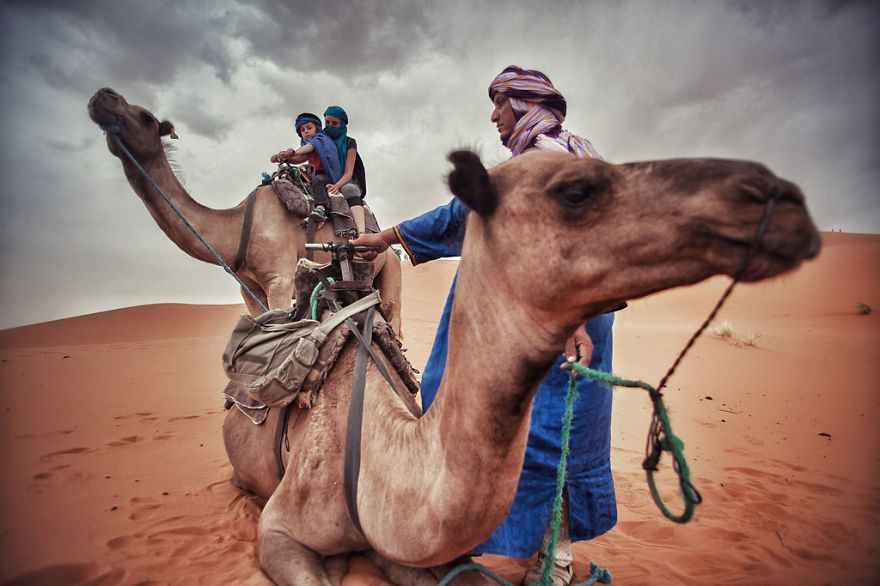 Camel riding in the Sahara, Merzouga (Morocco) - We Wanted To Show The World To Our 4-Year-Old So We Went On A 28,000Km Trip Around Europe