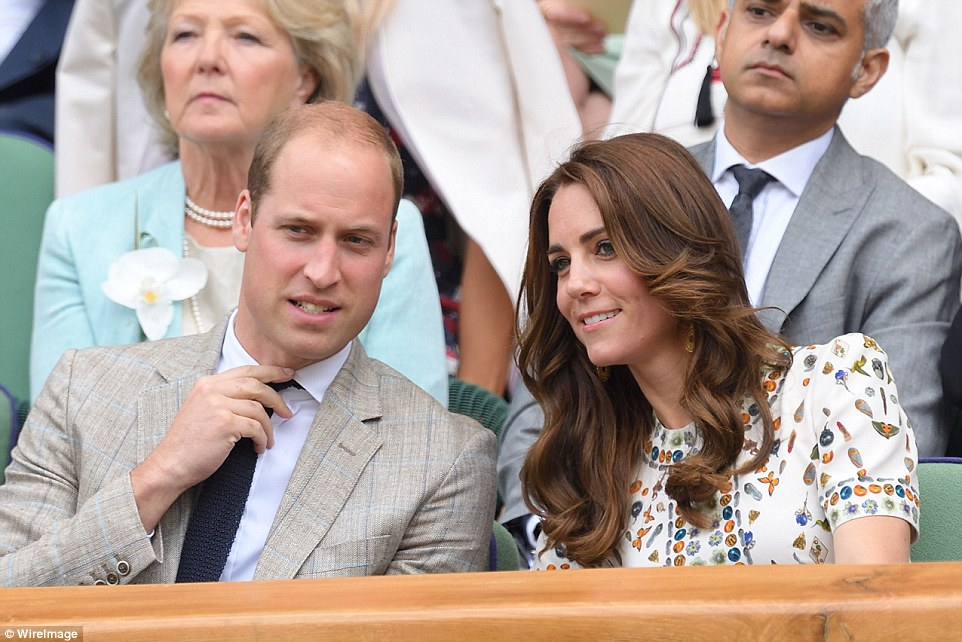 Prince William and Kate Middleton cheer on Andy Murray during Wimbledon final