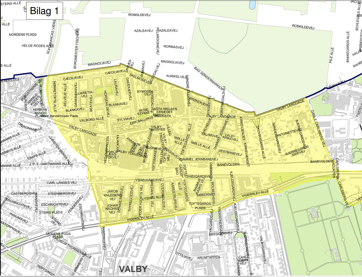Ny P Zone I Centrale Valby Valby Og København Før Og Nu