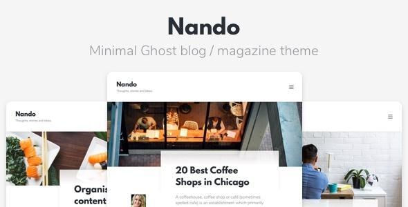 Template Nando - Minimal Ghost Blogging Theme