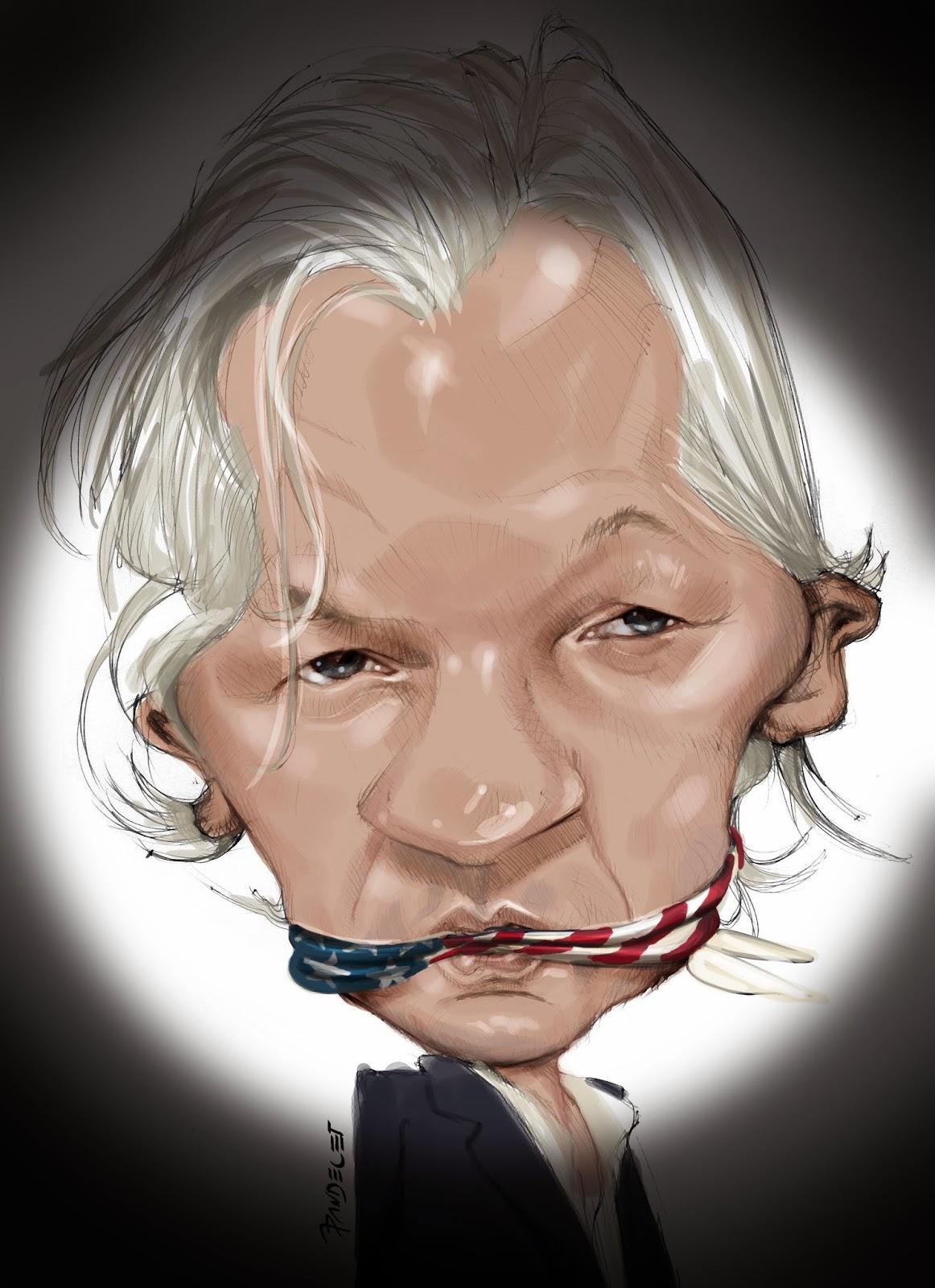 Julian Assange por Jaime Pandelet