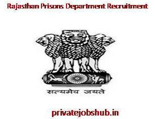 Rajasthan Prisons Department Recruitment