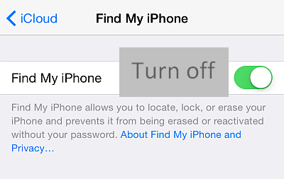 how to turn off find iphone iphone contacts december 2014 19175