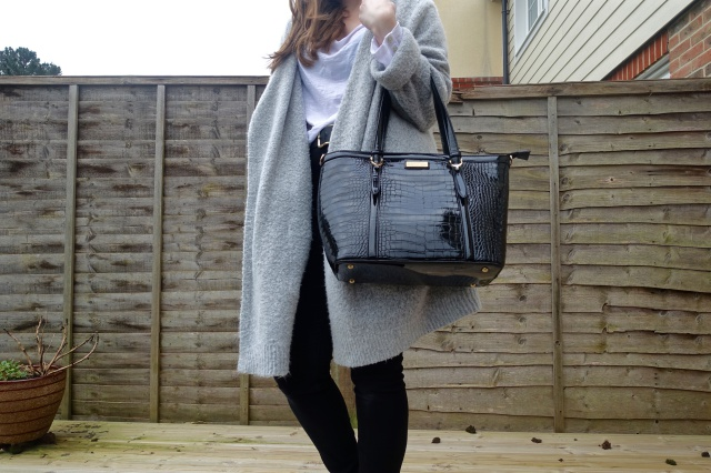 replica birkin handbags - Right Up My Street: Fashion: Faux Croc Patent Tote Bag