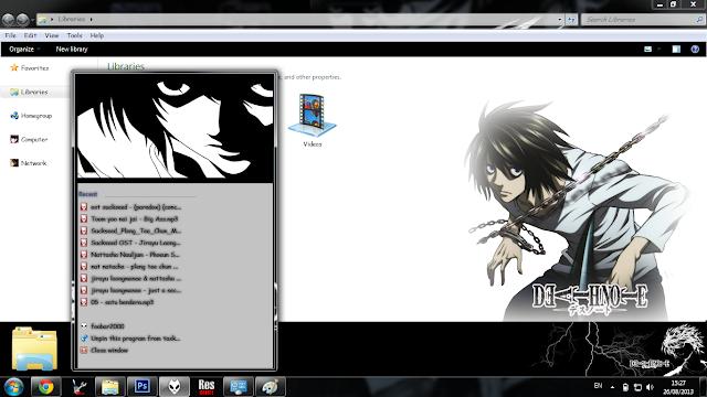 Windows 7 Theme Death Note - L by Bashkara