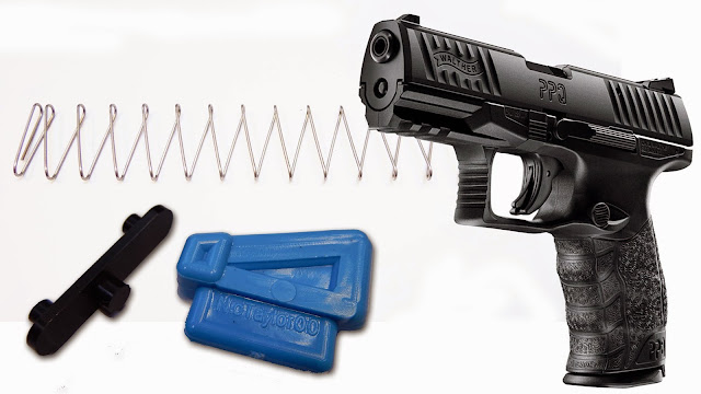 Walther PPQ 22LR pistol tactical M2 rimfire nictaylor00 shockbottle follower high cap capacity modifiaction