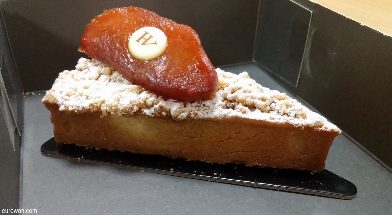 Porción de tarta coreana de Lotte
