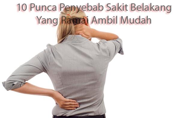 10 Punca Penyebab Sakit Belakang Yang Ramai Ambil Mudah | Sakit belakang adalah masalah yang ramai ambil mudah termasuklah AM sendiri. Ramai juga yang mengambil mudah beberapa punca terjadinya sakit belakang akibat amalan dan rutin seharian.  Bukan itu sahaja, ramai di kalangan kita yang menghabiskan masa bekerja yang tidak memerlukan pengerakan yang kerap juga menyumbang kepada masalah sakit belakang ini.  Sakit belakang mungkin bermula dengan rasa sengal, sakit dan lenguh adalah tanda-tanda awal masalah sakit belakang ini. Kebanyakkan di kalangan kita mungkin beranggapan ini adalah perkara biasa tanpa sedar akan akibatnya di kemudian hari.  Tidak perlu mencari masalah orang lain, AM sendiri juga telah mengalami masalah sakit belakang yang teruk pada tahun lalu. Sehingga kini, masalah sakit belakang masih lagi terasa dan untuk memulihkan sakit belakang cukup lama masa yang diperlukan. 10 Punca Penyebab Sakit Belakang Yang Ramai Ambil Mudah  Kisah Sakit Belakang AM  Kesakitan belakang telah AM rasa dari zaman bujang lagi tetapi seperti kebanyakkan dari kalangan kita hari ini, sentiasa mengabaikan rasa sakit itu kerana menganggap perkara remeh.  Kesakitan yang teruk bermula pad atahun 2017 dengan tiba-tiba sehinggakan untuk duduk sahaja sudah terasa sakit yang teramat. Desakan daripada isteri, terpaksa ke hospital untuk mendapat rawatan.  Apabila ke hospital, mestinya ubat tahan sakit akan diberi dan rawatan fisioterapi oleh pakar. Rawatan fisioterapi memakan masa sehingga 3 minggu dan 2x seminggu.  Alhamdulillah, rasa kesakitan belakang makin berkurang sehinggalah awal tahun 2018. Kesakitan yang lama berulang lagi kerana tekanan kerja yang memerlukan AM untuk duduk dalam masa yang lama sehingga memberi tekanan kepada tulang belakang AM. 10 Punca Penyebab Sakit Belakang Yang Ramai Ambil Mudah