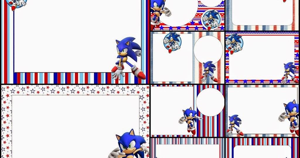 Imagenes De Sonic Para Imprimir: Sonic: Invitaciones Para Imprimir Gratis.