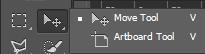 Công cụ move & artboard tool