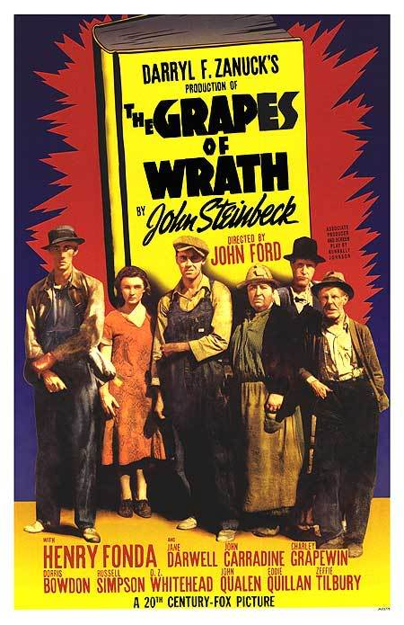 "the grapes of wrath movie review That he was also one of the few poets of the screen was a bonus orson welles famously called him ""a poet and a comedian"" he continued: ""with ford at his best, you get a sense of what the earth is made of""."