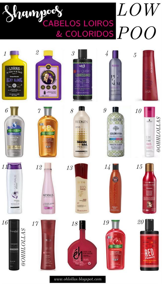 Populares 20 Shampoos para Cabelos Loiros e Coloridos Liberados para Low Poo LK81