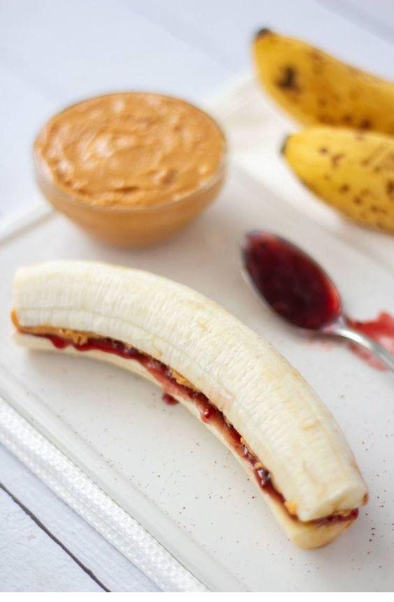Peanut Butter & Jam Banana Bites