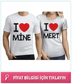 sevgiliye hediye tişört