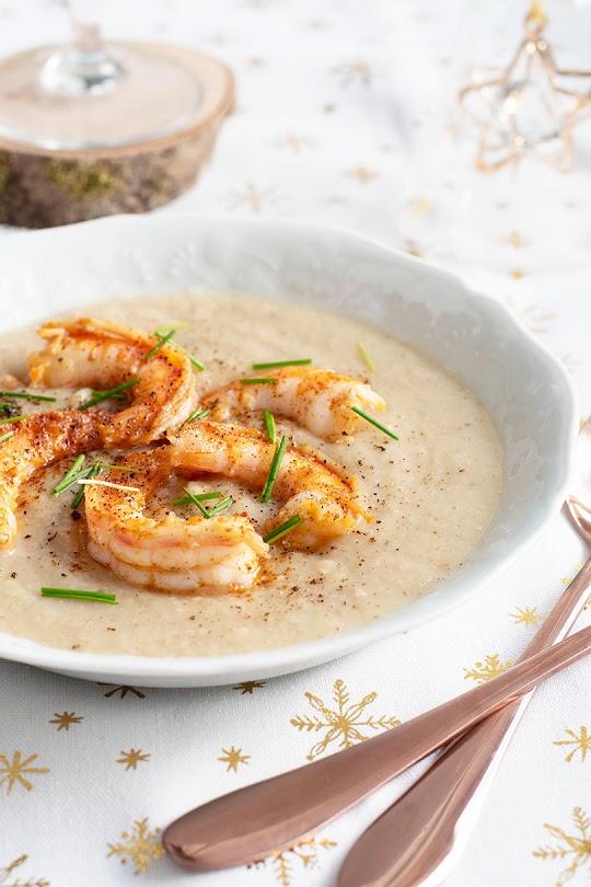 recette Velouté de panais et crevettes