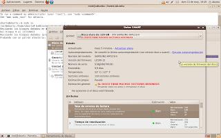 Reparación de sectores dañados en Disco Duro con GNU/Linux (disco vivo de ubuntu) 4