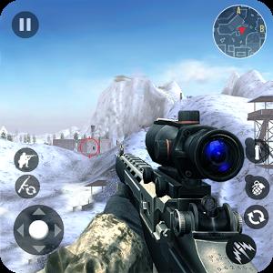 Winter Mountain Sniper Modern Shooter Combat MOD APK terbaru