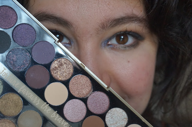 fortune-favours-the-brave-makeup-revolution-palette-revue-avis-swatches-tutoriel-skylight-transformer-midnight-rainbow-green-machine-smoothie