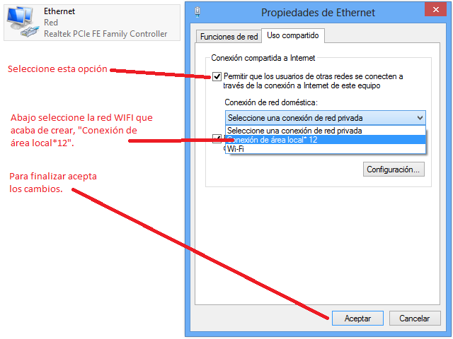 Compartir Internet con el programa DAR WIFI