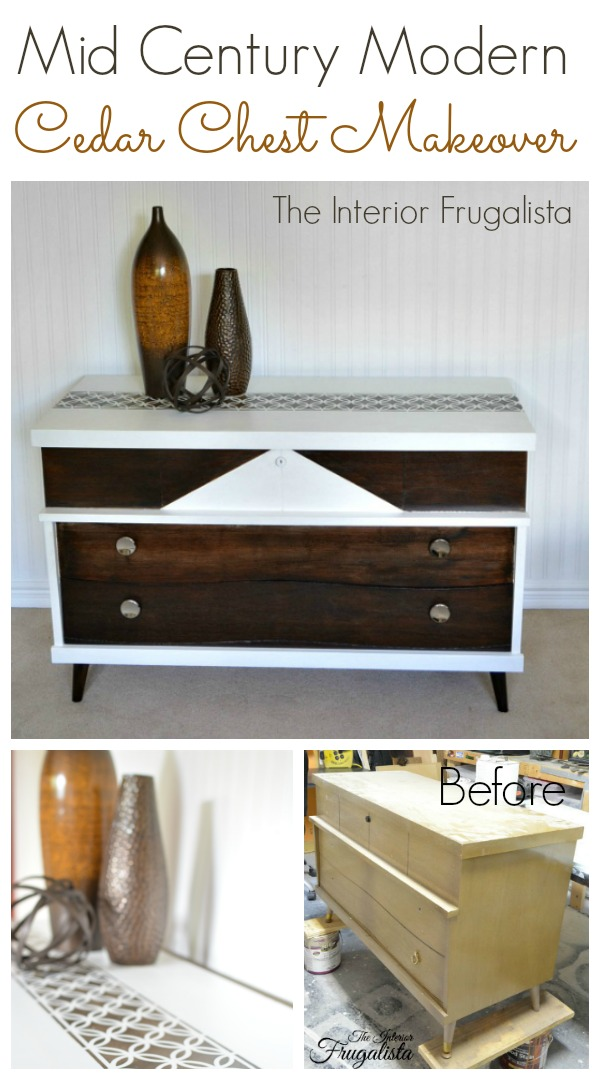 Mid Century Modern Chest Chest Before and After