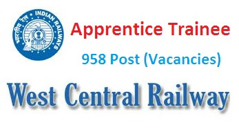 West Central Railways (WCR) Recruitment 2018 for Apprentice Trainee Posts 2018-19
