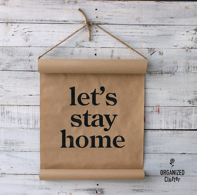 Faux Brown Kraft Paper Scroll Sign
