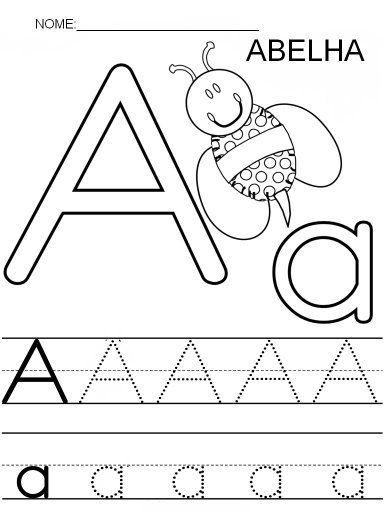 Resultado de imagem para atividades de alfabetização começando com a  letra a