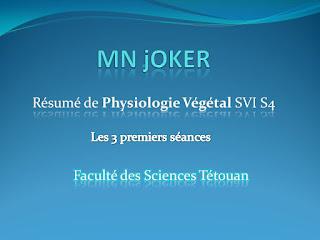 Cours de Physiologie Végétal SVI S4 pdf cours de physiologie vegetal SVI S4 pdf cours de physiologie végétale ppt  cours physiologie végétale croissance et développement pdf