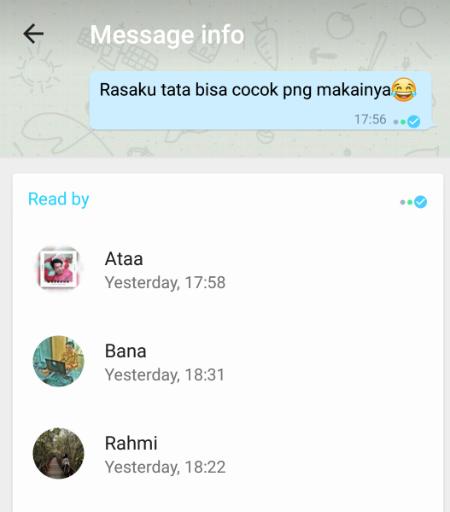Cara mengetahui siapa saja yang membaca chat whatsapp