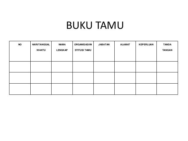 Download Format Buku Tamu Dinas Sekolah Doc Buih Sekolah Sd Smp Sma