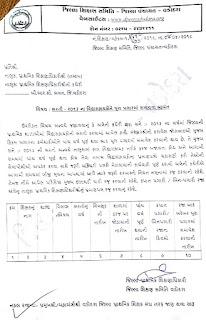 साल-2013 विध्यासहायक को पूरा पगार की दरखास्त रजू करने हेतु पत्र वडोदरा