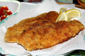 Catfish fillets, breaded with seasoned flour and panko bread crumbs and pan fried - fast and easy and the perfect fish for sandwiches or tacos.
