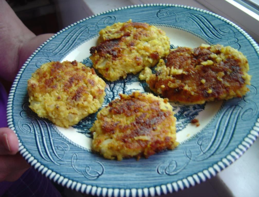 plate of my Spicy Salmon Patties