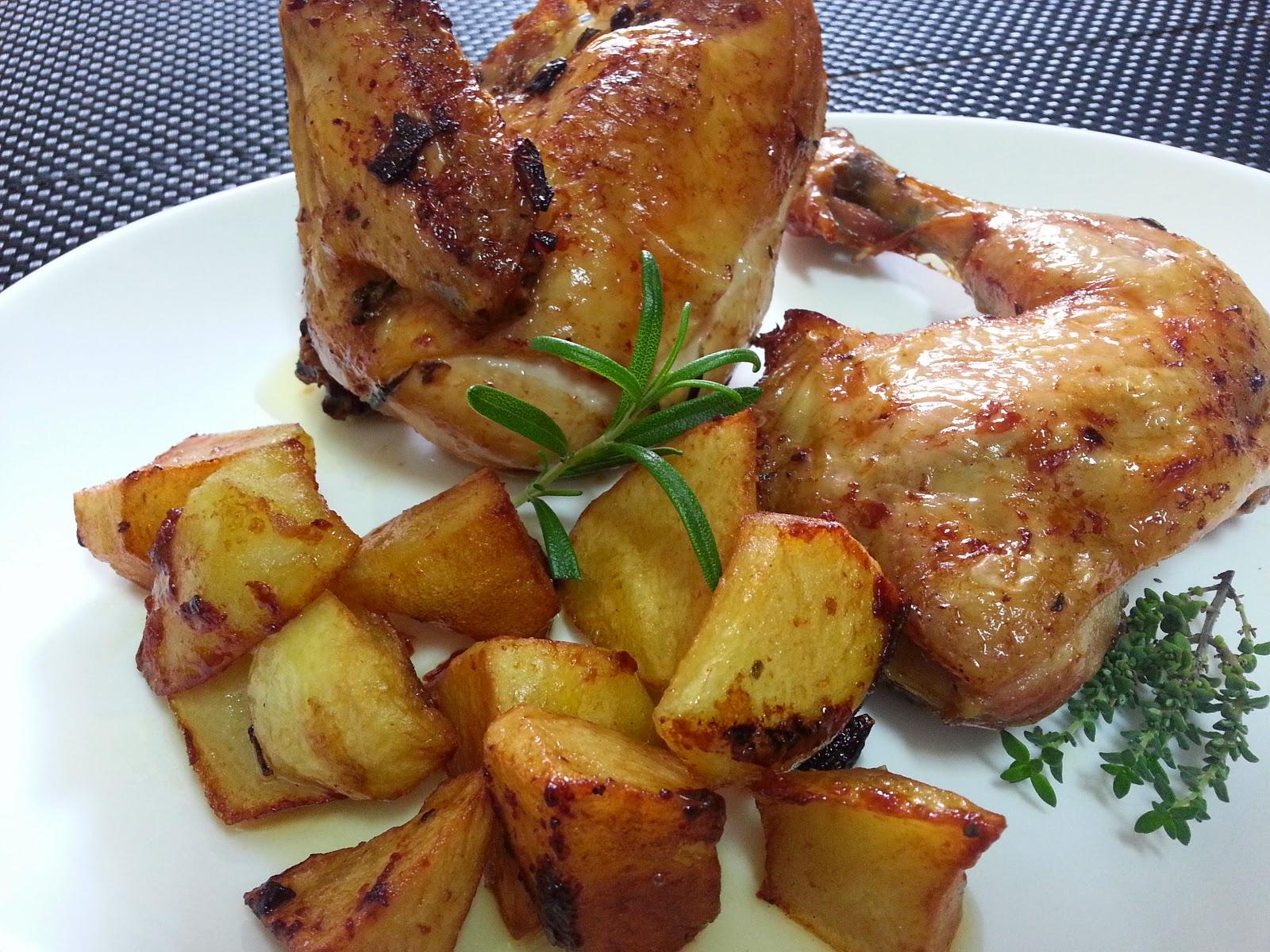 pollo asado al vino